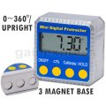 810-100 Digital Bevel Box Inclinometer with Magnets & Always Upr